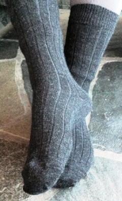Natur Alpakka. Tynnare sokk